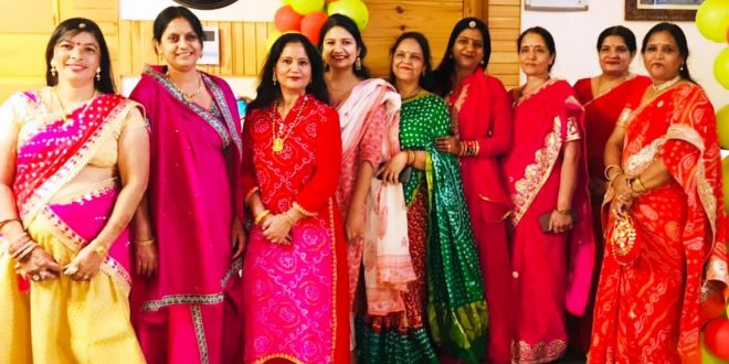 Gangaur festival celebrated by women wearing colorful clothes